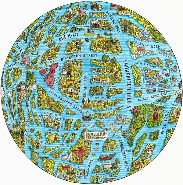 The map of spitalfields life spitalfields life the map of shoreditch in the year 3000 the gumiabroncs Gallery