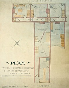 Houndsditch and Exchange Buildings Plan
