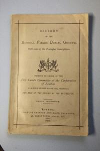 Bunhill Fields Buriel booklet