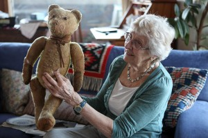 Grace and 86 year old bear