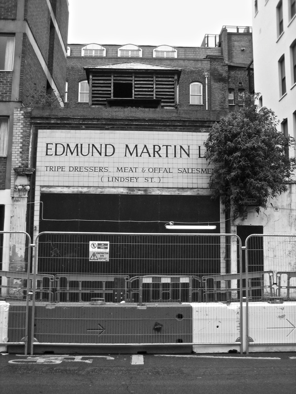 Edmund Martin Ld Tripe Dresser In Lindsey St Smithfield Demolished Last Year