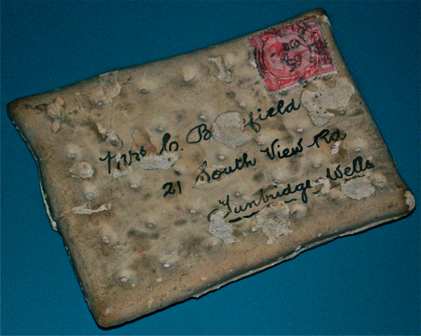 This biscuit was sent home in the mail during World War I