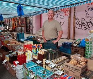 Bob Barrance of Bacon Street Brick Lane Market Series by Jeremy Freedman 2011