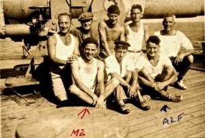 Capetown Castle 6 inch Gun's crew