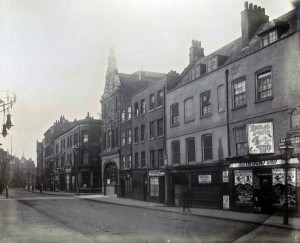 General View of the West Side of Bishopsgate Without from Norton Folgate, looking South