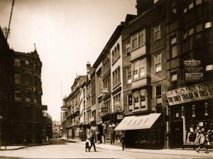 Leadenhall Street from Saracen's Head, Aldgate, looking West, 16 July 1911