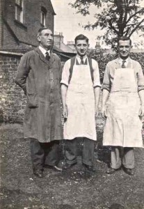 Stan & Bob Russell and worker c1939
