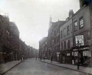 View of Bishopsgate Without, looking South from Norton Folgate