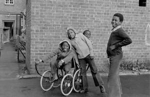 Kids with pram wheels 1980's 2 copy