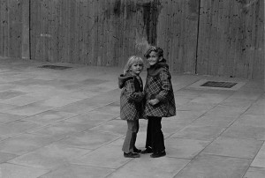 Laughing & Crying Two Girls Wandsworth 1970's copy