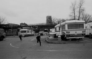 Travellers Hackney Central Car Park 1980's