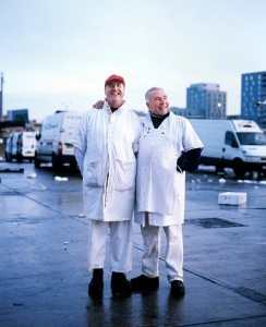 16_Tony Mitchell and Steve Martin, both porters for over 32 years, Billingsgate, London 2012_BlogPaul