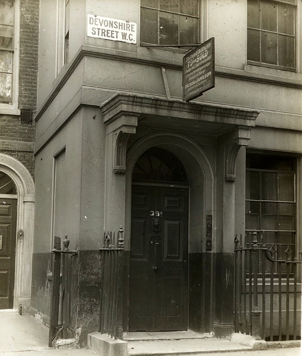 39a Devonshire St. & The Doors Of Old London | Spitalfields Life
