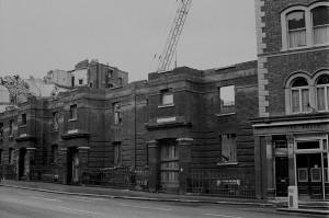 Demolishing Victoria Dwellings Clerkenwell Road copy