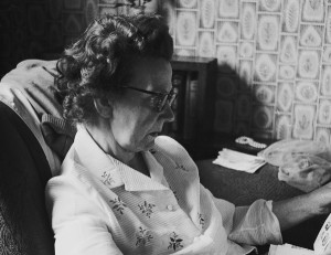 Michael Cliffe House my mother Edith reading the newspaper copy