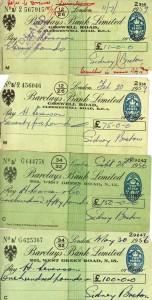 Sidney Breton cheques