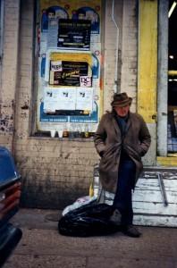 Retired Street Cleaner, Brick Lane, Mar 1988