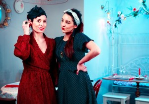 Aurelie Lhote and Nadia Brahim at CHEZ ELLES Bistroquet, Brick Lane - London by  Jeremy Freedman 2013