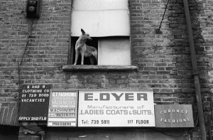 sweatshop workshop exterior 1970's tower hamlets east london whitechapel