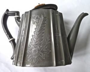 Victorian Pewter Teapot 1
