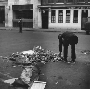 1-11 - Spitalfields Market, 1978_ discarded vegetables
