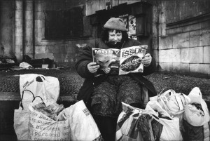 4-18 - Mary reading the Big Issue, re-scanned Full Frame