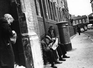 Providence Row doorway, Crispin Street, '70s