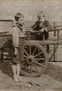 LSF HWC Spitalfields Nippers 13 Two boys one in a cart