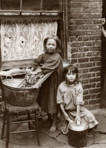 LSF HWC Spitalfields Nippers 19 Two girls washing clothes