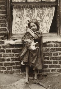 LSF HWC Spitalfields Nippers 9 girl holding cat