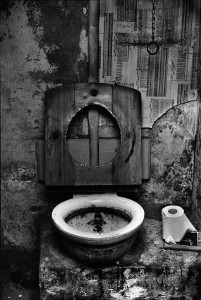 Lavatory in squatted house in Myrdle Street, Whitechapel 1973