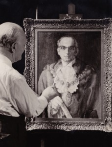 Morris_painting_mayor_of_stoke_newington_Simon_Cohen_1960_