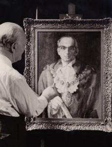 Morris_painting_mayor_of_stoke_newington_Simon_Cohen_1960_