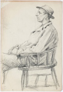 Sketch of local person in East London (circa 1920) 2