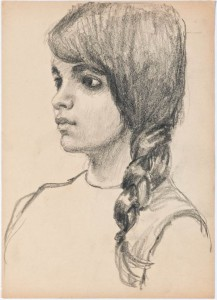 Sketch of local person in East London (circa 1920) 3