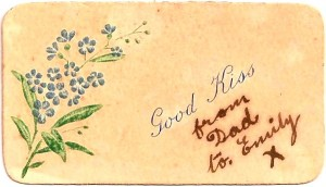 George Joseph Dubock WW I gift card