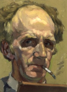 Self-Portrait with Cigarette
