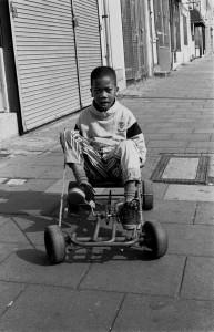 Boy with a Go-Kart Median Rd. Hackney