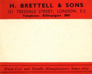 Brettells gummed label