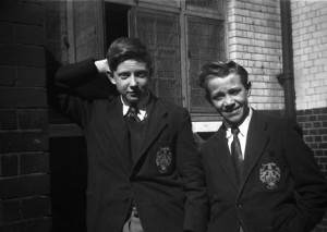 Colin O'Brien left with Colin Wines Sir John Cass School 1954
