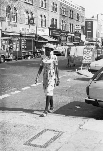 Lady in Summer Dress Chatsworth Road 80s