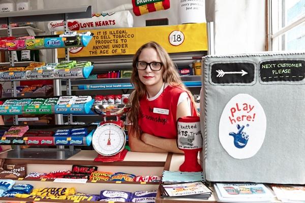 At Lucy Sparrow's Felt Corner Shop   Spitalfields Life