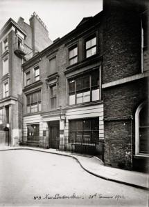 No.3 New London Street, 28 January 1912