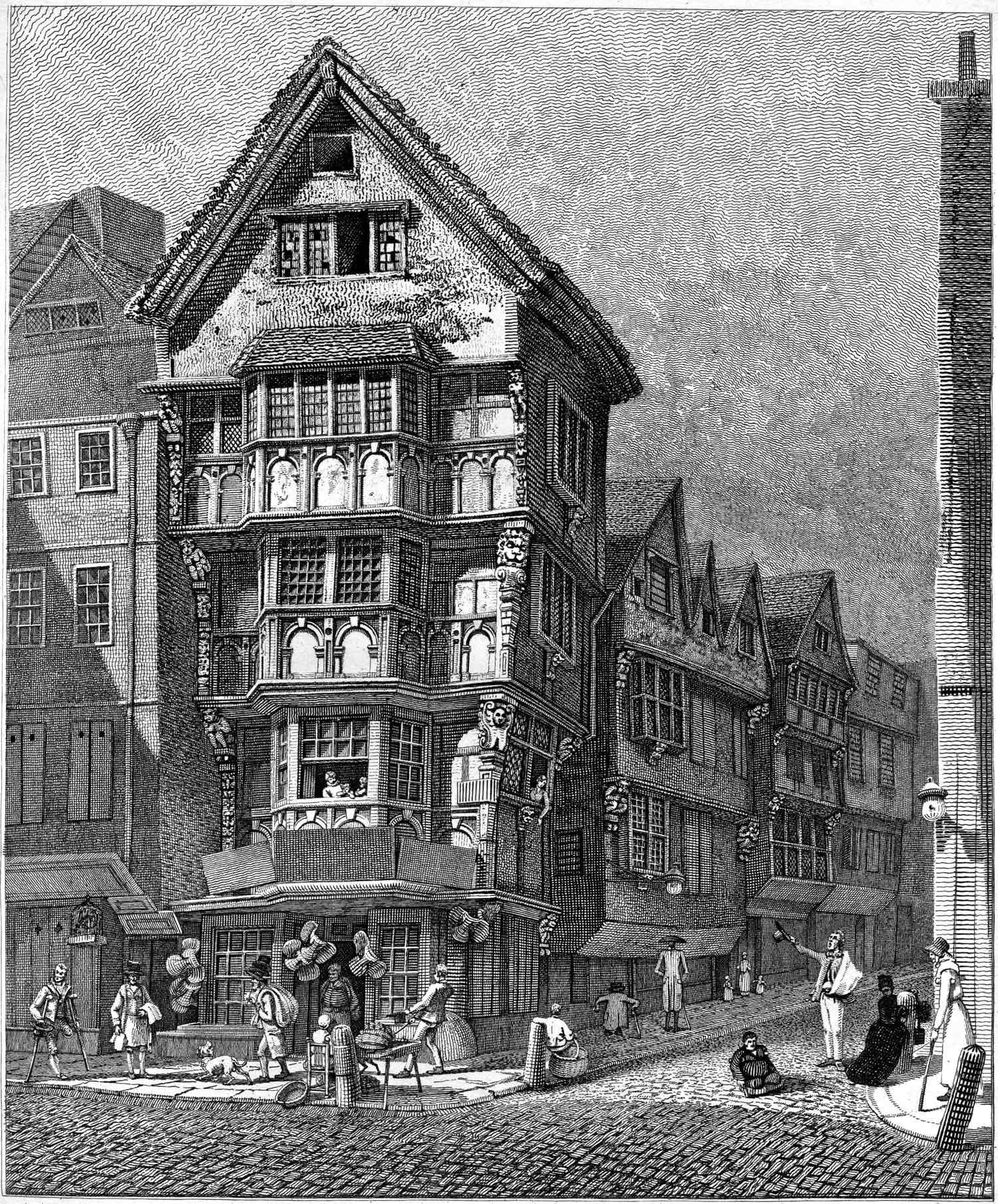 John thomas smith s ancient topography spitalfields life for Classic house old street london